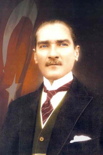 Atatürk Posteri kumaş üzerine dijital baskılı