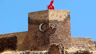 Kale Türk Bayrağı Manzara Resimleri